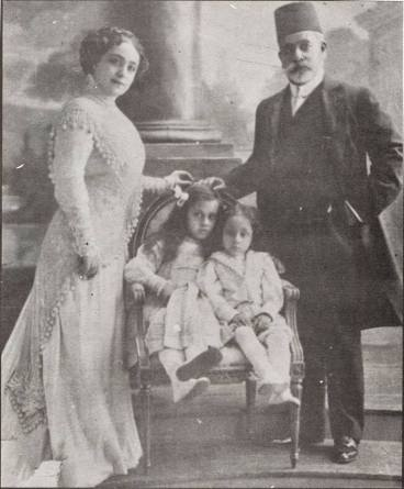 Hoda Shaarawi and her family