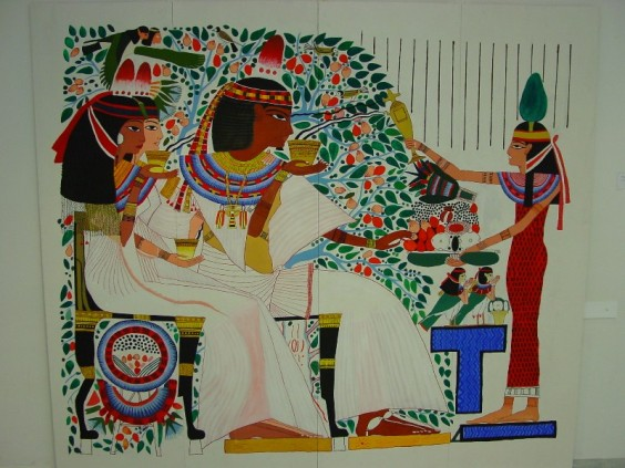 ancient_egyptian_wall_painting_by_pilori