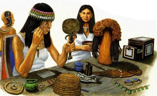 Egyptian-woman-applying-kohl