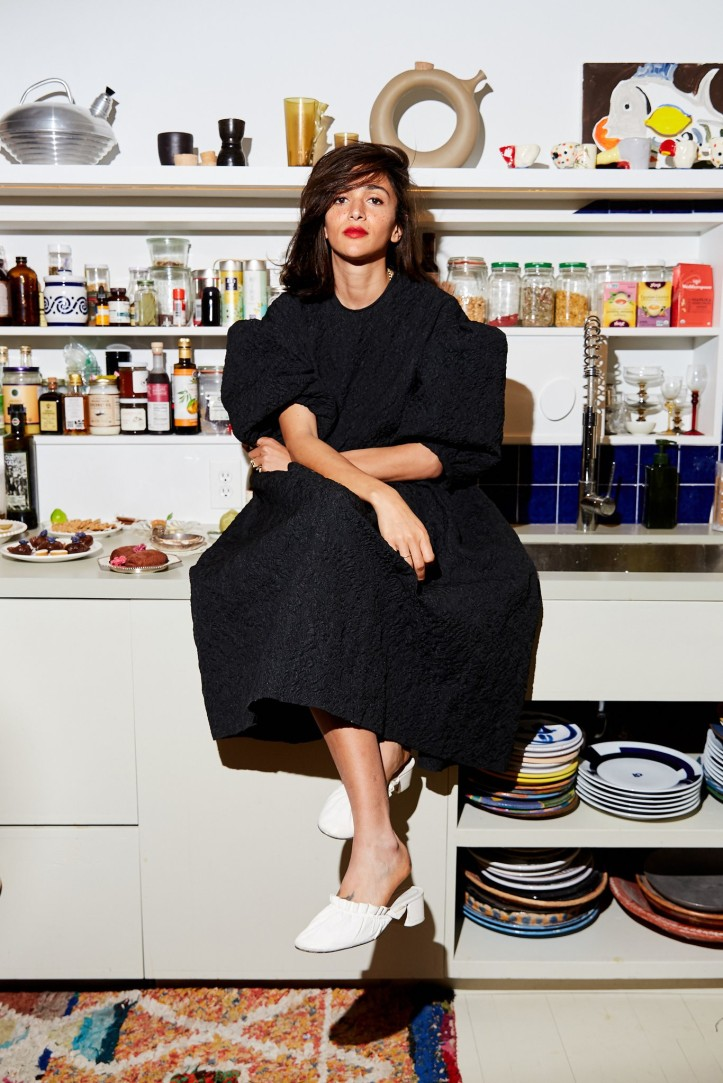 Laila Gohar in her Manhattan kitchen.CreditCreditPaul Quitoriano