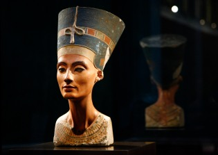 The statue of Nefertiti is pictured at 'Neues Museum' building in Berlin