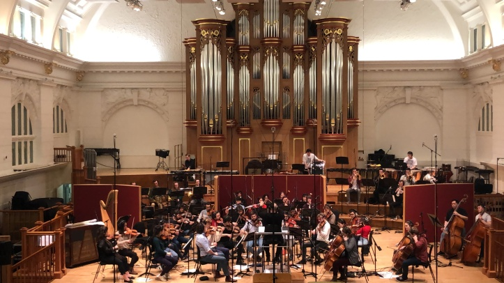 Recording of composition at Amarayllis Fleming Concert Hall