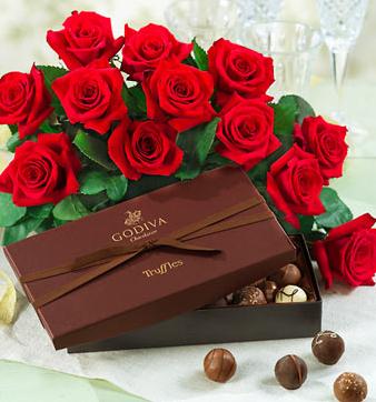 Chocolate box valentine days flowers